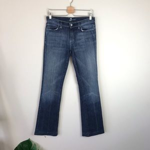 7FAMK Jagger Mid Rise Bootcut Jeans Distressed 29